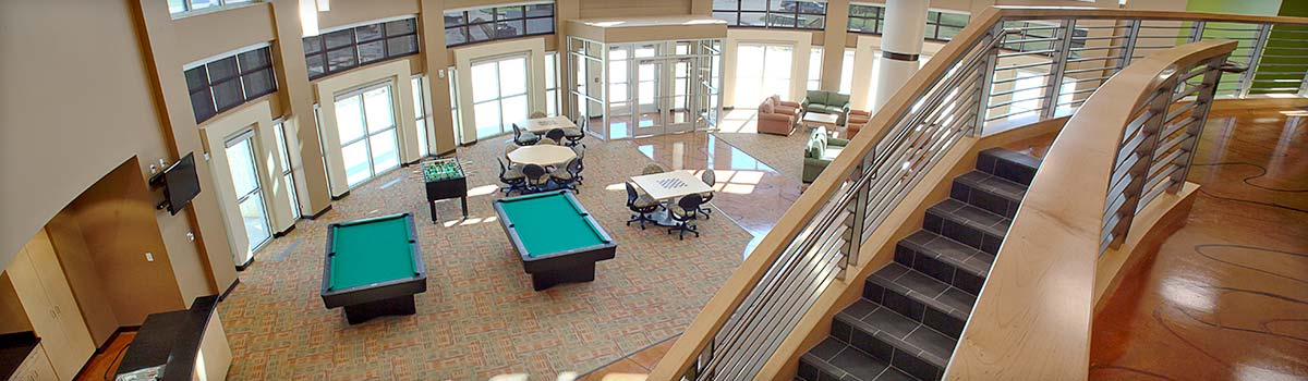 Pool tables in residence halls